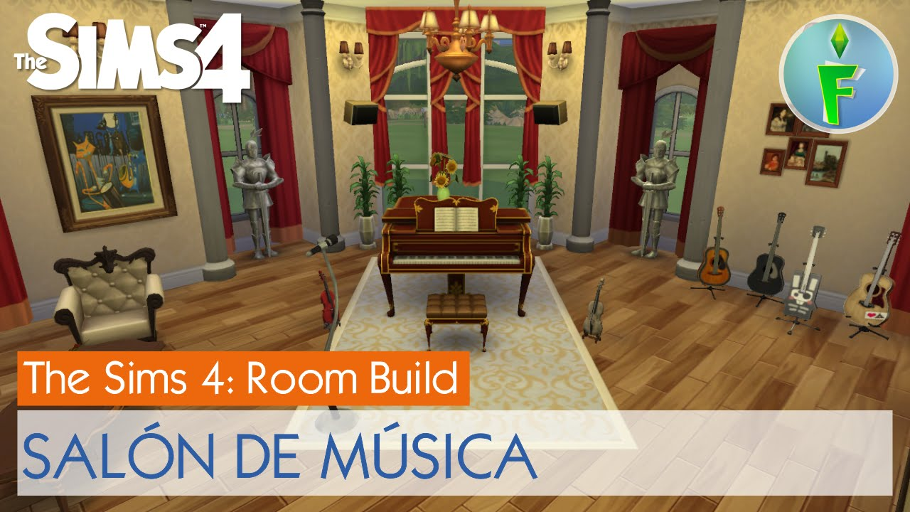 sims 4 room build sal n de m sica music room youtube. Black Bedroom Furniture Sets. Home Design Ideas