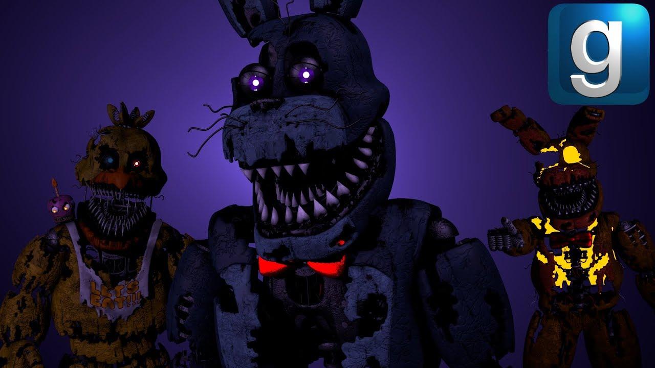 Gmod FNAF | New Nightmare Bonnie Ragdoll! (Bunny Box War)