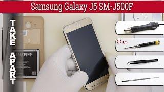 How to disassemble 📱 Samsung Galaxy J5 SM-J500 Take apart Tutorial