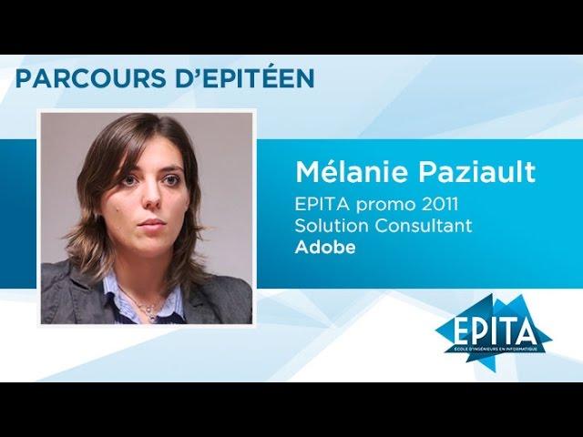 Parcours d'Epitéens - Mélanie Paziault (promo 2011) - Adobe