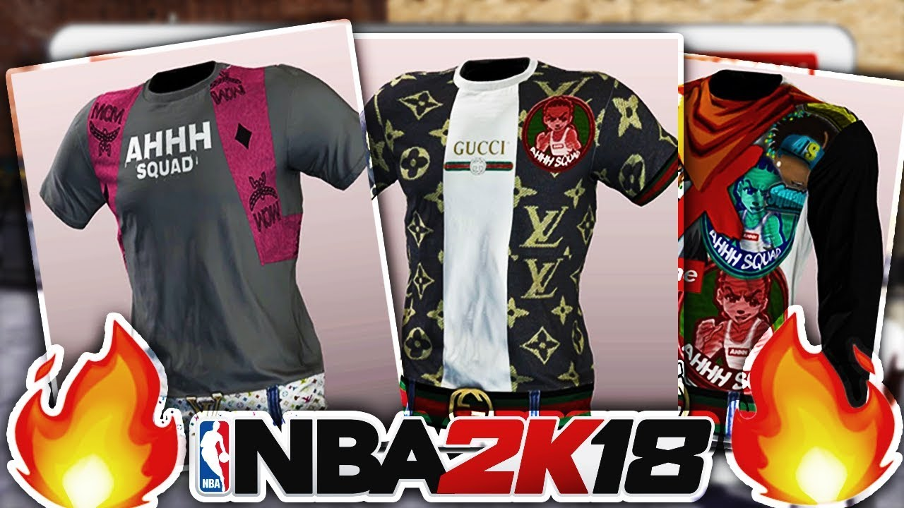 BEST CUSTOM T-SHIRTS IN NBA 2K18 • EXCLUSIVE PS4 DESIGNER SHIRTS ...