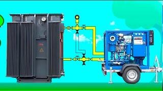 Восстановление масла путем дегазации. Подключение установки к трансформатору(, 2016-01-28T16:05:11.000Z)