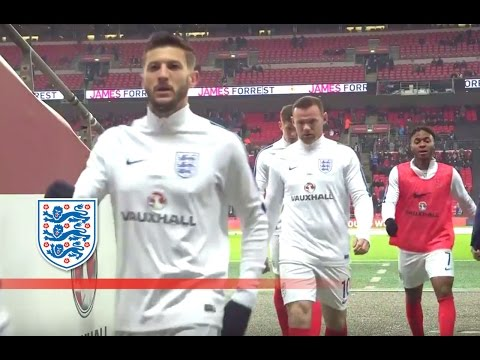 Tunnel Cam - England v Scotland (2018 WCQ) Lallana, Rooney, Sterling, Stones | Inside Access