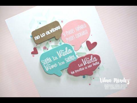 Bubble Speech Card-Latina Crafter