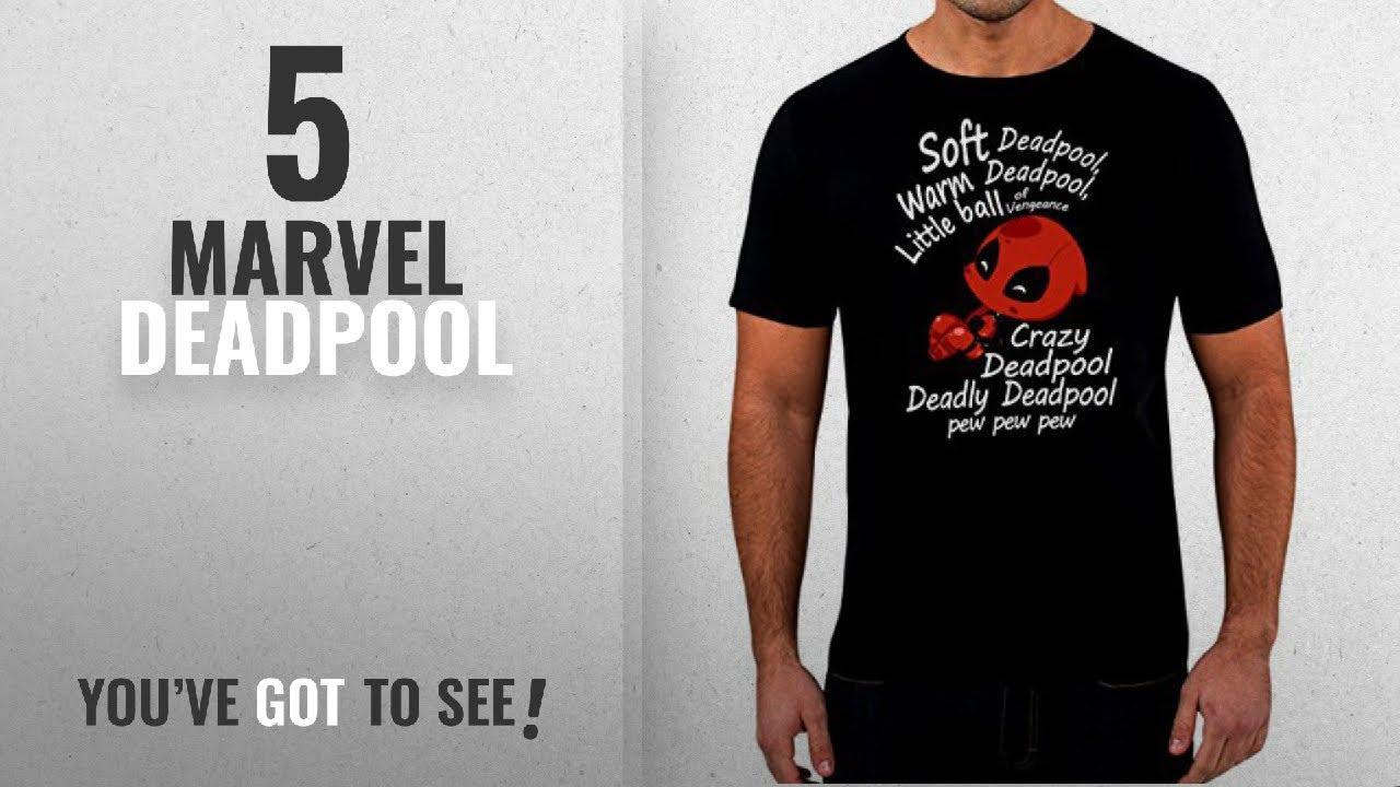 Top 10 Marvel Deadpool [2018]: Soft Deadpool T-shirt - Mens Black Comedy T-Shirt Sizes S - 5XL