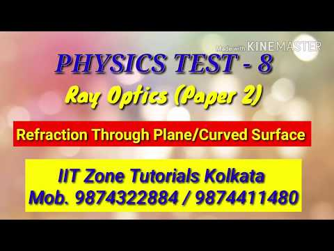 PHYSICS TEST (8)/OPTICS-REFRACTION For JEE MAIN & NEET Practice Test Series.