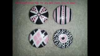 Pink And Black Drawer Knob/pulls That You Can Create For Your Furniture!