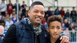 will smith and jaden smith rap fresh prince of bel air theme song   popsugar news