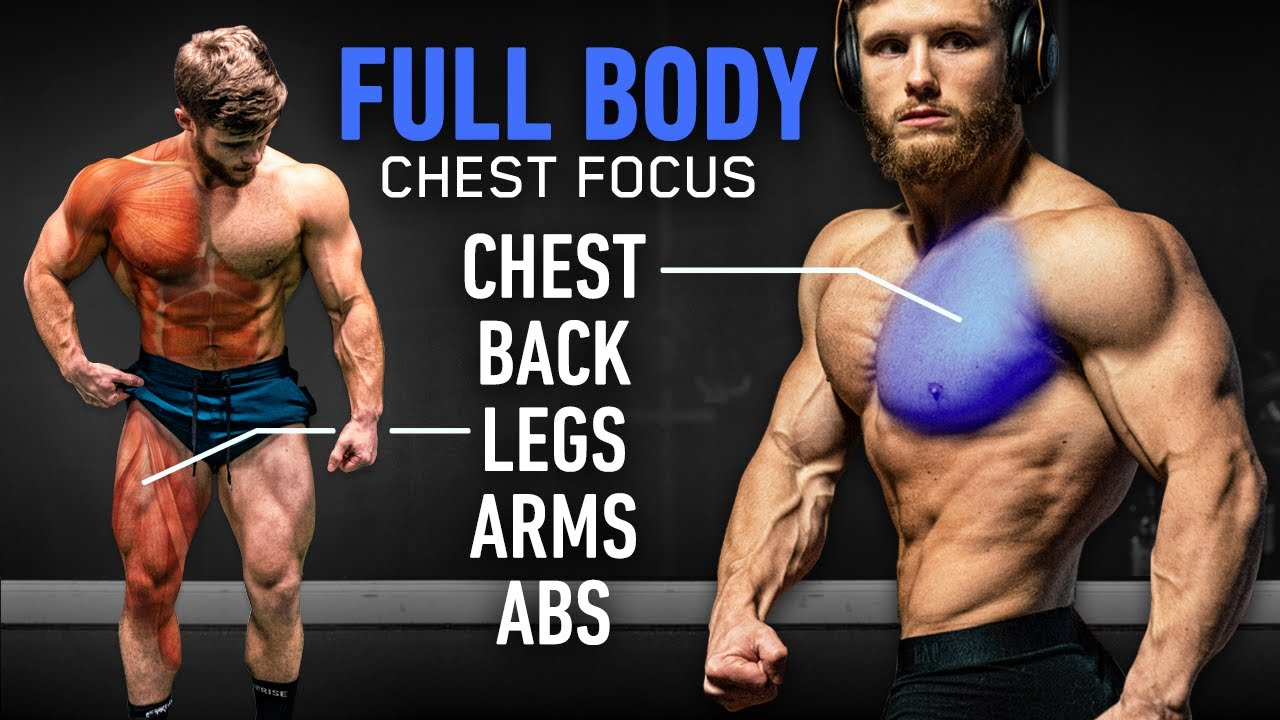 The Perfect CHEST Focused Full Body Workout (7 Exercises: Based On Science)