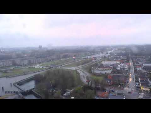 Webcam-oostersluis.nl - Inzet van traumahelikopter bij de Oostersluis in Groningen