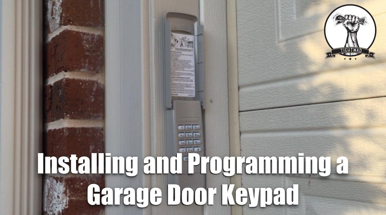 How To Install And Program A Garage Door Opener Keypad Wiring