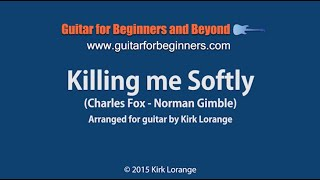 Killing Me Softly - A Fingerstyle Guitar Lesson showing the Virtual Fretboard.