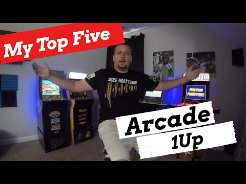 My Top 5 Arcade 1Up Cabinets that I own! from Basic Reviews by David
