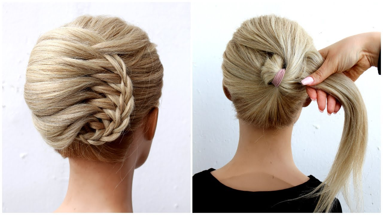 Easy French roll UPDO  | Latest Juda Hairstyle With Gown | Hairstyle For Wedding And Party #shorts