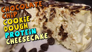 Chocolate Chip Cookie Dough Protein Cheesecake