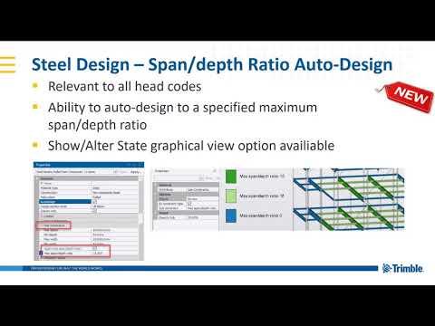 Autodesign in Tekla Structural Designer 2019i