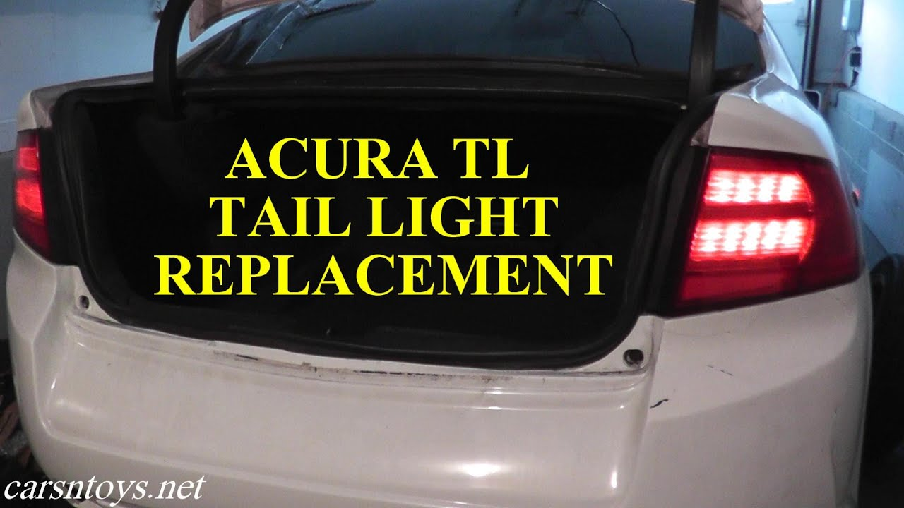 acura tl rear tail light replacement with basic hand tools youtube