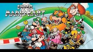 Tardeo 16 BITS con el Super Mario Kart de Super Nintendo.Completando los 50cc.(Facil).Continuara...