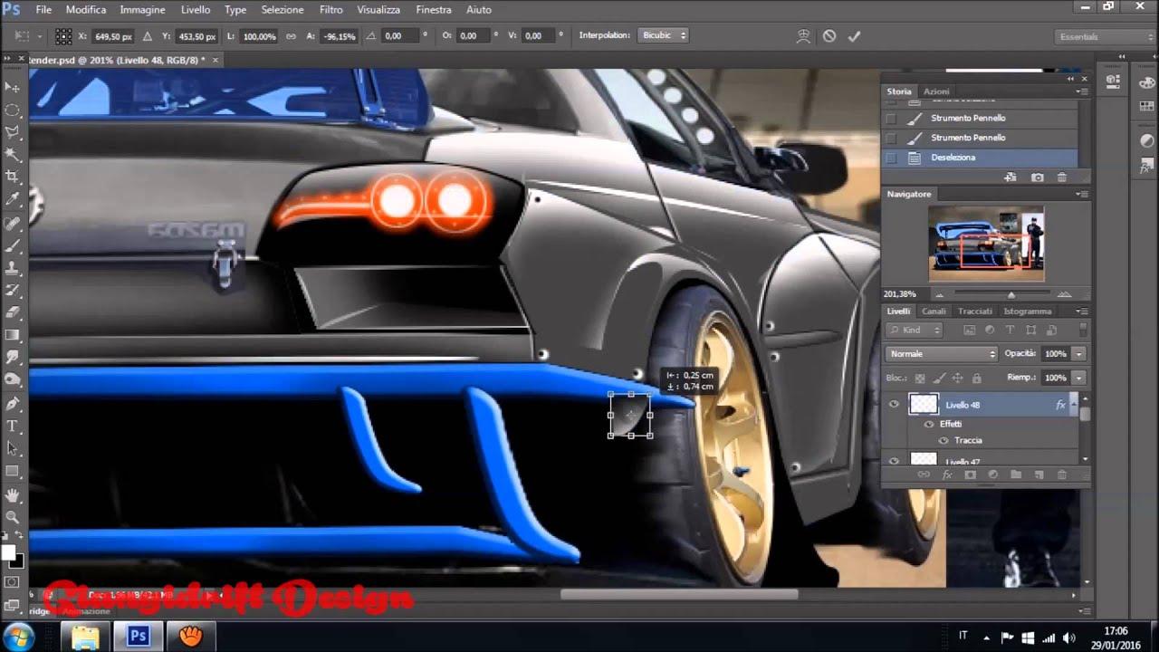 Mazda Rx 8 2 Virtual Tuning Photoshop Youtube