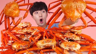 ENG SUB)Amazing! Red Snow King Crab Steamed Eating Mukbang🦀Korean Seafood ASMR 후니 Hoony Eatingsound