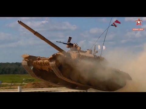 "Indian Team T90S ""Bhishma"" Tank At Russian Army Games Tank Biathlon 2017"