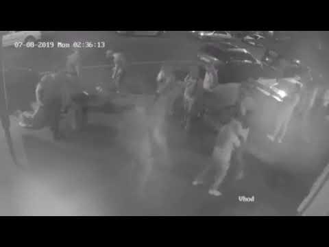 """Охранник ресторана """"Гранат"""" убил посетителя, видео с камеры наблюдения"""
