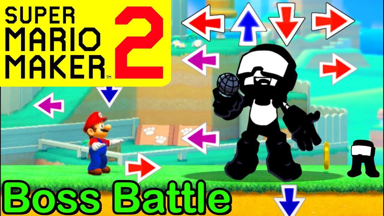Mario Maker 2 - How to make a TANKMAN boss battle (Mario Maker Boss ideas) (Friday Night Funkin)