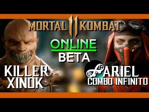 Teste Online Beta contra Ariel do canal COMBO INFINITO - Mortal Kombat 11 thumbnail