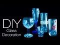 5 DIY Glass decoration ideas | 5 ways to decorate glass | Beads art