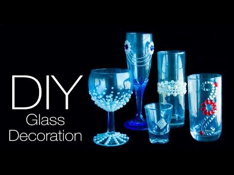 5 DIY Glass decoration ideas   5 ways to decorate glass   Beads art
