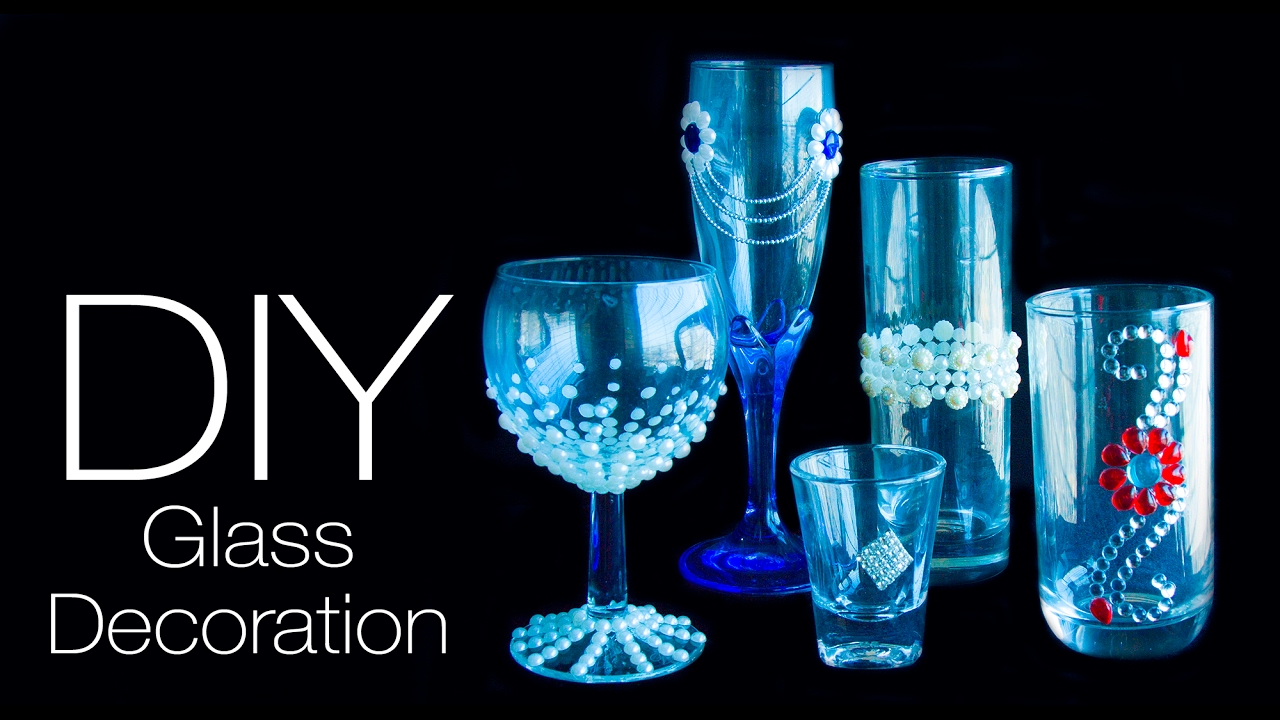 Glass decoration ideas - 5 Diy Glass Decoration Ideas Easy And Quick Decorate Your Glass 5 Ways To Decorate Glass