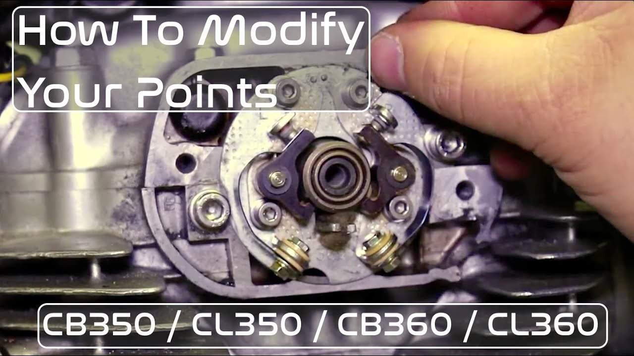 ignition points modification guide for honda cb350 / cb360 / cl350 & cl360  scrambler