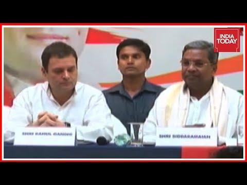 Rahul Gandhi, Siddaramaiah Talk To Press In Final Leg Of Karnataka Assembly Polls