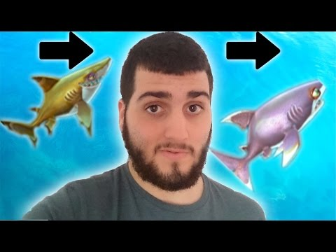 Hungry Shark World TIBURÓN PUNTA NEGRA NIVEL MAX. PASAMOS CON EL TIBURÓN PUNTA BLANCA! NEW CRIA WIIL