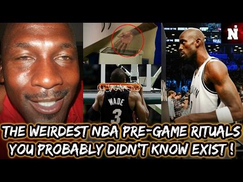 The Weirdest NBA Pregame Rituals You Probably Didn't Know Exist !