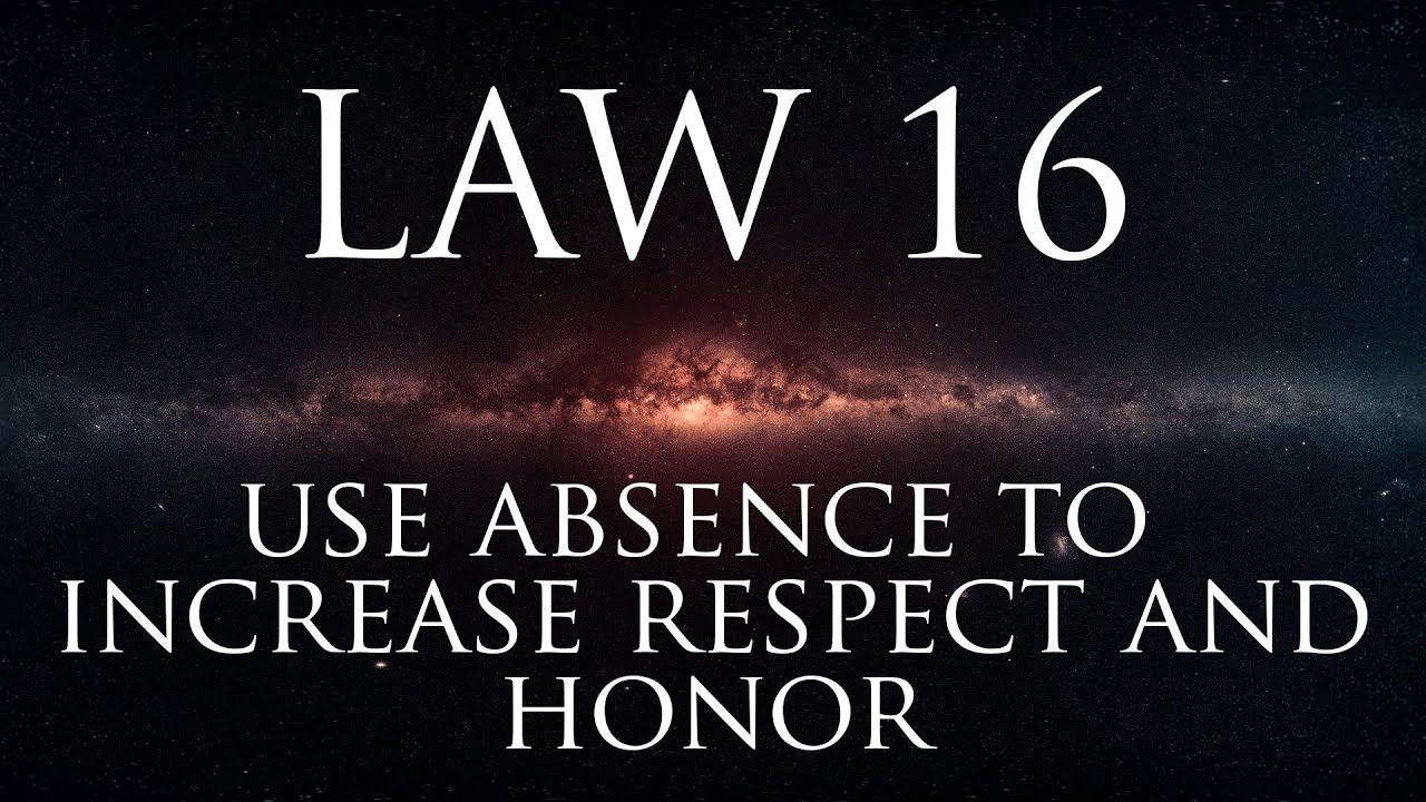 Download 48 Laws of Power #16: Use absence to Increase Honor and Respect