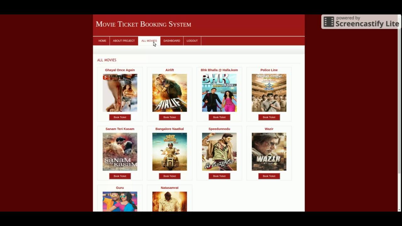 online cinema ticket booking system