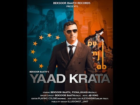 yaad-krata-||-beksoor-baath(italy)-(official-video)-||-beksoor-baath-records-||-new-song-2019