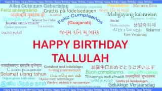 Tallulah   Languages Idiomas - Happy Birthday
