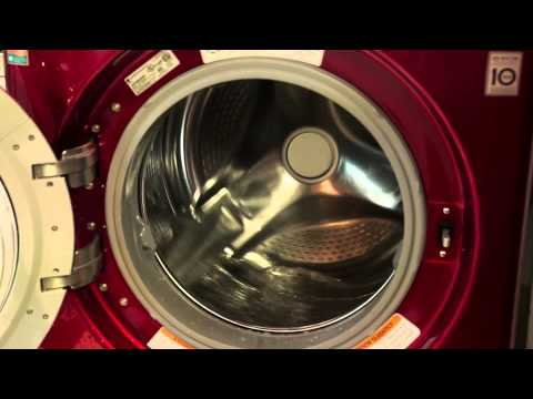 LG Turbo Steam Machine in Cherry Red - Door Open