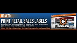 Print Retail Labels