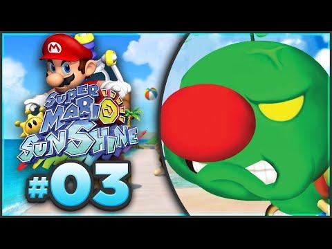 Super Mario Sunshine 100% Walkthrough | ALL Gelato Beach Shine Sprites! [Episode 3 🔴LIVE]