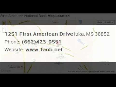 First American National Bank Corporate Office Contact Information