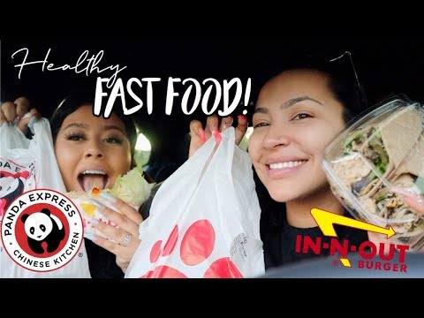 Trying HEALTHY fast food for 24 hours!! thumbnail