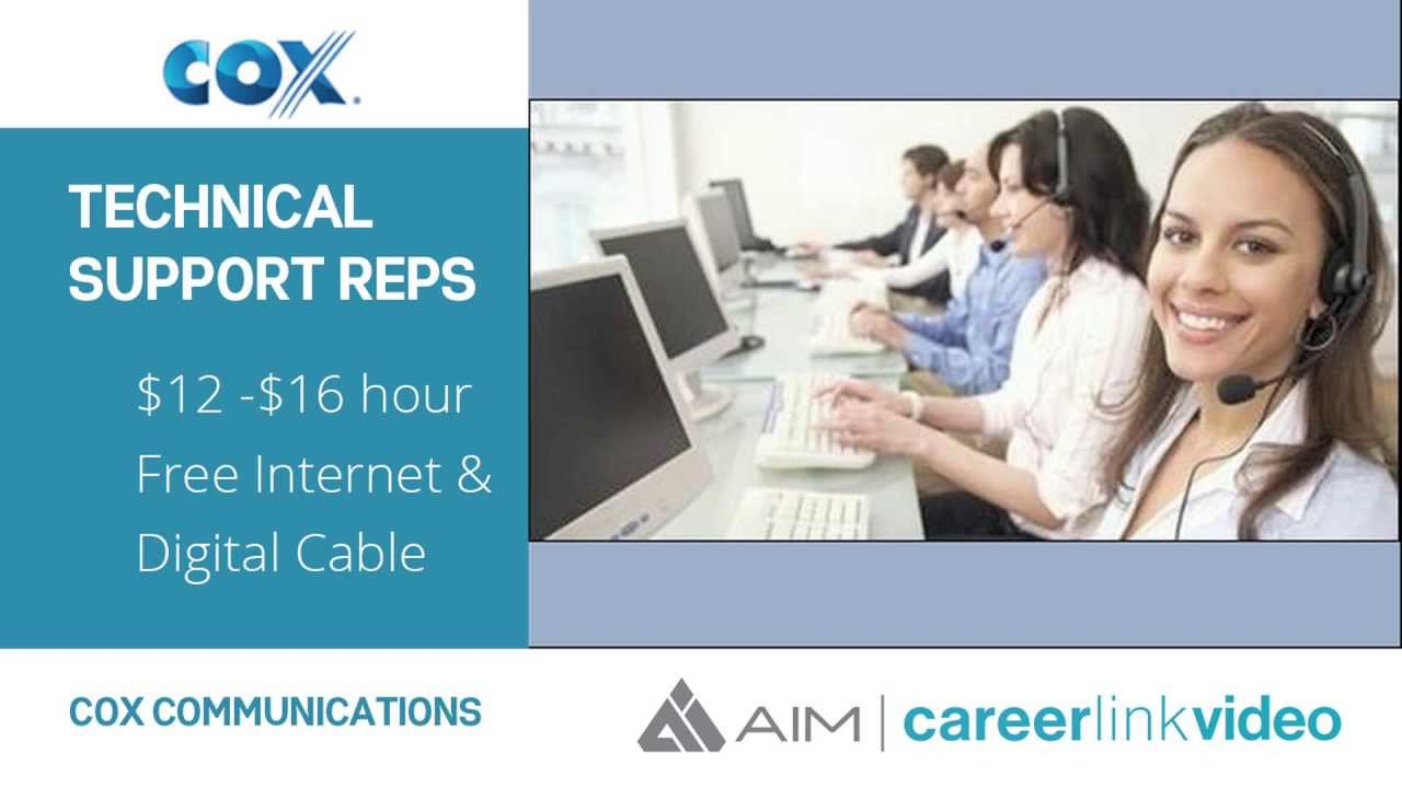 COX COMMUNICATIONS- Technical Support Representative - YouTube