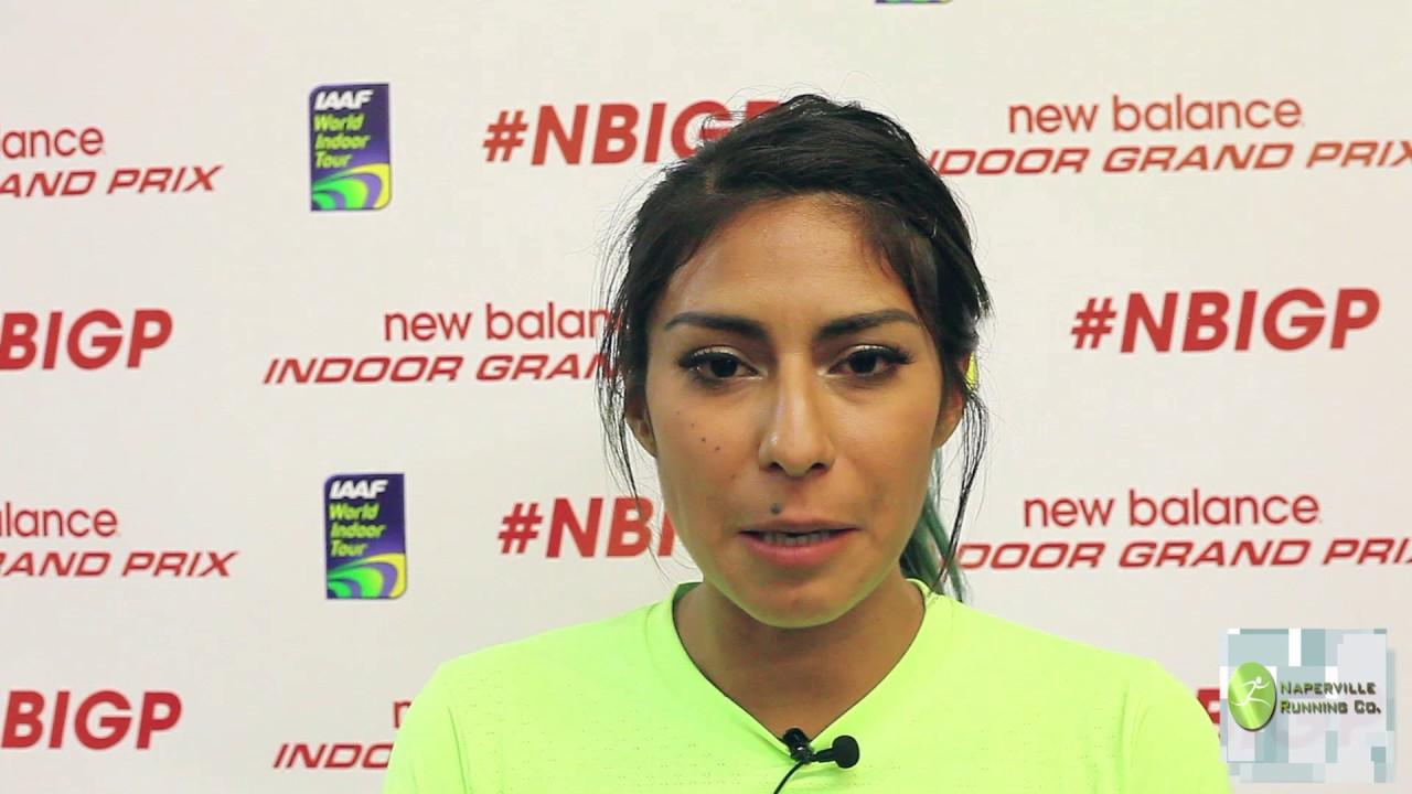 Brenda Martinez Interview at 2017 New Balance Indoor Grand Prix