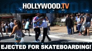 Tyler the Creator Thrown Out of The Grove For Skateboarding! - Hollywood.TV