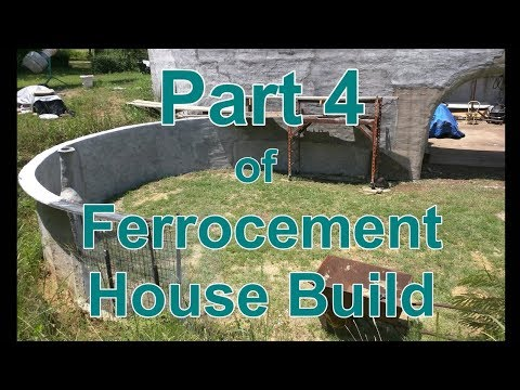 Ferrocement House Project - Part 4 - Upper Retaining Wall