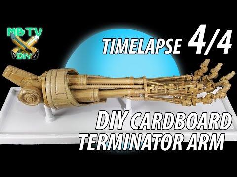 Terminator Arm Timelapse 4/4 DIY Cardboard Sculpture